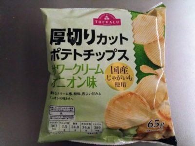 厚切りカットポテトチップス サワークリームオニオン味