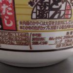 あっさりおだしがおいしい どん兵衛 肉だしうどん のカロリーと栄養2【日清食品】