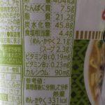 世界のカップヌードル ピリッと生姜のグリーンカレー のカロリーと栄養【日清食品】