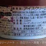 ハーゲンダッツ ラムレーズン のカロリーと栄養と原材料
