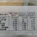 BESTPRICE さしみこんにゃく 柚子みそ付き のカロリーと栄養【トップバリュ】